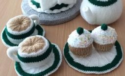 Macmillaan crochet tea set - allison Watson