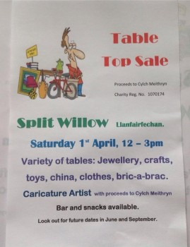 April1st table top sale